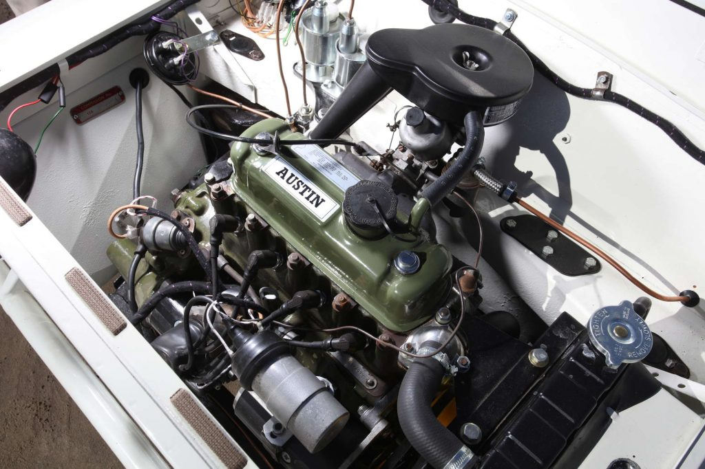 The Prisoner Mini Moke engine